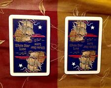 WHITE STAR LINE TITANIC TWO  ANTIQUE PLAYING CARDS MARITIME NAUTICAL GAMES RARE