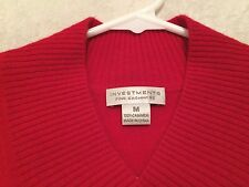 INVESTMENTS Fine Cashmere Women's Red 100% Cashmere Sweater Size Medium M