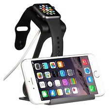 2in1 Charging Stand for Apple Watch & iPhone Dock Apple Watch 2015 Models Black