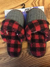 NEW Ladies Climate Right Cuddl Duds Slippers House Shoes Sz S 5-6 Slip On
