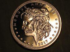 1 COPPER Oz Coin Round Morgue Anne Morgan silver Dollar Zombucks Zombie 2017
