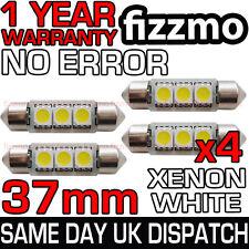 4x 37mm 239 272 SV8.5 6000k BRIGHT WHITE 3 SMD LED FESTOON LIGHT BULB ERROR FREE