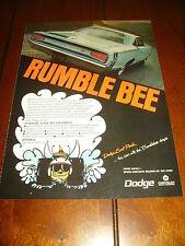 1968 DODGE SUPER BEE  ***ORIGINAL AD***