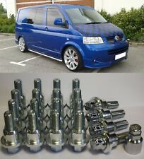 RANGE ROVER TO VW T5 CALIFORNIA ALLOY WHEEL CONVERSION KIT BOLTS LOCKERS RINGS