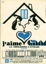 """Publicité Ancienne """" Menuiserie GIMM """"  (  P. 31 )"""
