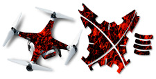DJI Phantom 2 Drone Wrap RC Quadcopter Decal Custom Skin Accessory Red Flames