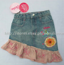 60% OFF! AUTH BARBIE GIRLS' RUFFLED DENIM SKIRT SIZE 1 /1-2 yrs BNWT SRP P599.75