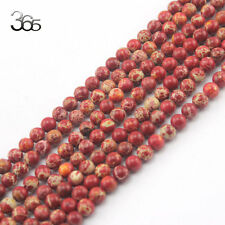 Jewelry Making 6mm Round Gemstone Red Crazy Lace Agate Spacer Beads Strand 15""