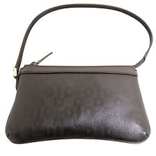 New GUCCI Horsebit Leather Bag Pouch Clutch Evening Bag Brown 272381