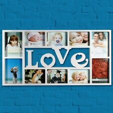 NEW EXTRA LARGE WHITE LOVE HEART FAMILY PHOTO FRAME MULTI PICTURE WALL HANGING