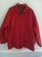 Lewis Creek American Countrywear men's size large L red coat red jacket plaid