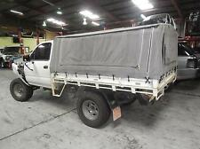 TOYOTA HILUX SINGLE CAB STEEL TRAY UTE BACK WITH CANVAS CANOPY