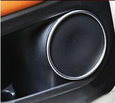 Chrome Car Door Speaker Audio Ring Cover Trim For Honda Vezel HR-V HRV 2014-2016