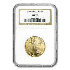 2006 1/2 oz Gold American Eagle Coin - MS-70 NGC - SKU #18543