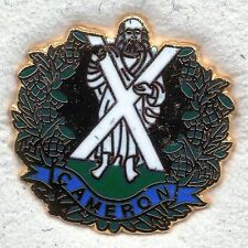 Enamel Lapel Badge Cameron Highlanders
