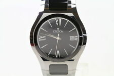 CROTON MENS DRESS WATCH TUNGSTEN/CERAMIC 35MM