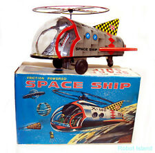 X-100 Japan Space Ship Tin Toy Vintage by EO Large Version