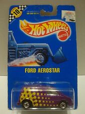 Hot Wheels 1990 Blue Card Ford Aerostar Points Card # 151 1:64 Diecast C37-51
