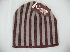 Censim Cheng Xin Mao Ye Striped Winter Hat Red Tan One Size Fits Most