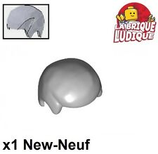 Lego - 1x Minifig cheveux coiffure hair gris/light bluish gray 3901 NEUF