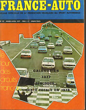 REVUE OFFICIELLE DE LA FEDERATION FRANCAISE DU SPORT AUTOMOBILE FRANCE-AUTO