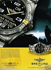 Publicité advertising 2002 La Montre Breitling Chronomètre aerospace