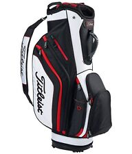 NEW 2016 TITLEIST LIGHTWEIGHT CART BAG BLACK WHITE RED