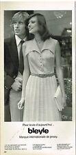 Publicité Advertising 1974 Pret a porter Femme Bleyle