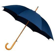 Le aludra bois crochet automatique vent résistant marche parapluie pour événements navy