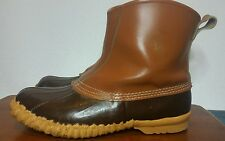 Mens Sorel Cheyanne Fishawk Kaufman Leather Waterproof Slip On Duck Mud Boots 9