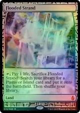 MTG FOIL FLOODED STRAND (FULL ART) BFZ PRESALE - SPIAGGIA ALLAGATA EXPEDITION
