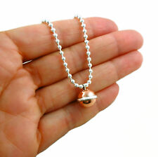 925 Sterling Silver and Copper Ball Bead Chain Necklace