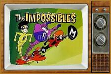 "THE IMPOSSIBLES TV Fridge MAGNET  2"" x 3"" art SATURDAY MORNING CARTOONS"