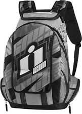 Icon Old Skool Backpack Gray Motorcycle Back Pack 3517-0340