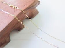 New Pure 18K Multi-tone Gold 1mm Cable Link Chain Necklace 45cm Length