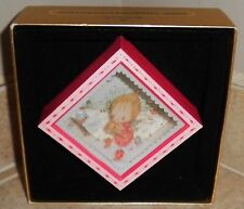"""BETSEY CLARK'S CHRISTMAS"" Hallmark Square Shadowbox Dated Ornament 1980"