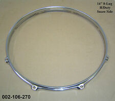 "14"" 8-Lug Triple Flanged H/Duty BOTTOM Hoop / Ring / Rim Snare Drum 002-106-270"