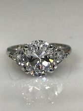 Oval Cut Engagement Ring with Accents  4.00 ctw. 14K White Gold #4619