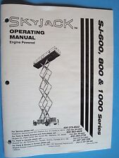 SkyJack SJ-600, 800 &1000 Series Operating Manual 118945-AA  Aug. 1999