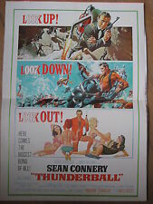 REPRODUCTION AFFICHE JAMES BOND 007 THUNDERBALL SEAN CONNERY