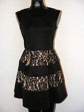 NWT Black Dress with Black lace pattern on skirt by Crystal Doll in size 7