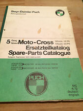 Puch MC125/175 Motocross 5-Speed  , OEM Vintage Spare Parts  Manual 1972