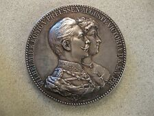 1906 Prussia Wilhelm II Wedding Jubilee Silver Medal By E. Weigand