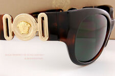 Brand New VERSACE Sunglasses VE 4265 944/71 HAVANA/SOLID GRAY GREEN Women