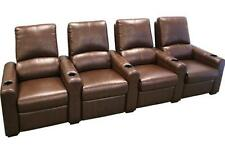 Seatcraft Eros Home Theater Seating 4 Seats Brown Chairs Manual Recline