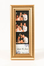 Photo Booth Frames for Photo Booth Strips, 2x6, premium Gold frame with glass