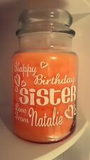 Personalised Sticker Label Candle Jar Gift Any Name Birthday Wedding Fathers Day