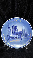 1972 Munchen Olympic Collectible Plate Goebel Frauenkirche St. Peter W Germany