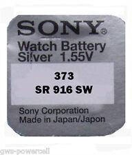 3 x Sony Batterie V 373 Knopfzelle Uhrenbatterie V373 23mAh 1,6V SR 916 SW SR 68