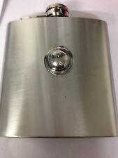 TOMMY HELMET REFWW1THKR  english pewter 6oz Stainless Steel Hip Flask